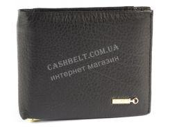 Удобный мужской кошелек с зажимом для купюр из натуральной качественной кожи  SALFEITE art. 12238 черн