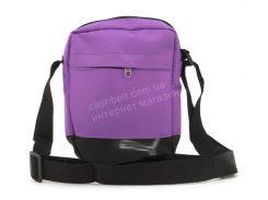 Стильная небольшая спортивная тканевая мужская сумка с надписью  art. 56-5 (102290) фиолетовый