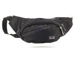 Удобная цветная мужская сумка на пояс art. БАНАНКА 66 (102910) черная Украина