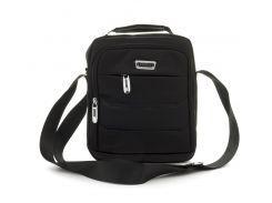 Качественная прочная мужская сумка почтальонка с качественного материала LeadHake art. 4004 черная