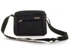 Удобная наплечная мужская сумка с очень прочного материала почтальонка art. 1258 (103224) черная
