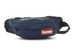Удобная супервместительная мужская сумка на пояс art.БАНАНКА 67 (102775) синяя Украина