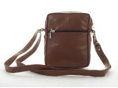 Мужская стильная прочная сумка из натуральной кожи ручного пошива art. 2404   Украина Терракота