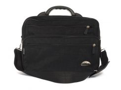Вместительная мужская полу каркасная деловая сумка с очень плотного материала WALLABY  art. 26531 Украина