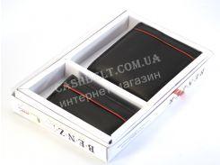 Мужской набор пормоне с ключницей в коробке BENZER art. 340 черный