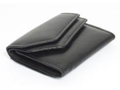 Кожаный удобный мужской кошелек SWAN с монетницейart. 0091-11-23586732 черного цвета