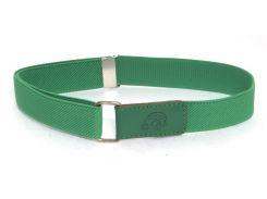 Детский ремень резинка на липучке высокого качества с регулируемой длиной (103684) зеленый