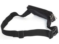 Удобная прочная мужская сумка на пояс из очень прочной ткани art.БАНАНКА 6193черный Украина