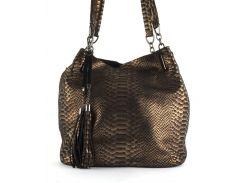 Стильная  женская мягкая сумка из натуральной кожи с лазерной обработкой PRINCESSA art. 7633