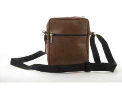 Мужская стильная прочная сумка из натуральной кожи ручного пошива art. 2404   Украина