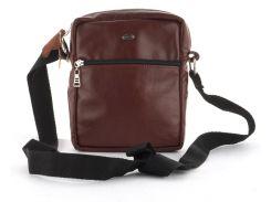 Мужская стильная прочная сумка из натуральной кожи ручного пошива art. 2404   Украина Бордовый
