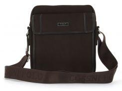 Очень прочная тканевая мужская небольшая наплечная сумка POLO art. 661-4 Коричневый