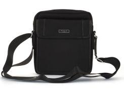Очень прочная тканевая мужская небольшая наплечная сумка POLO art. 661- 3 черная
