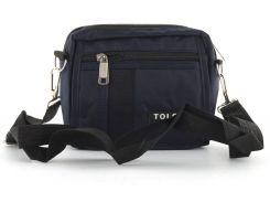 Стильная небольшая тканевая мужская сумка TOLO  art. 107 Синий