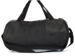 Стильная спортивная вместительная сумка бочонок art. 25 (102807) черная