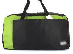 Стильная прочная спортивная вместительная сумка  art. 140.3  Черный/салатовый