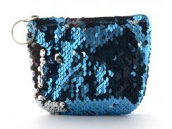 Маленький детский кошелек для девочек art. Паетки  Голубой