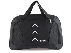 Стильная прочная спортивная вместительная сумка  art. 8502 (103445) черная