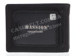 Мужской стильный классический кошелек c прочной кожи HASSION art. H-053 черный