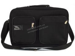 Вместительная мужская текстильная сумка черного цвета WALLABY art. 2621 Украина