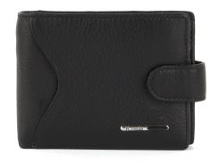 Кожаный мужской прочный кошелек H.VERDE art. 2145 черный