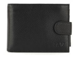 Кожаный мужской прочный кошелек H.VERDE art. L005-13 черный