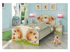 """Кровать """"Мишка с букетом"""" (3 размера)"""