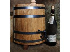 Вертикальный дубовый жбан (бочка) для напитков Seven Seasons™, 20 литров