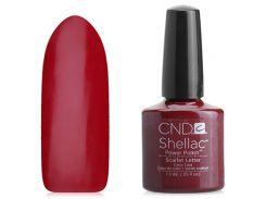 Shellac CND Scarlet Letter (вишневый оттенок эмаль)