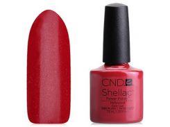Shellac CND Hollywood (ярко-красный с микроблёстками)