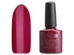 Shellac CND Red Baroness (темно-бордовый с микроблёстками)