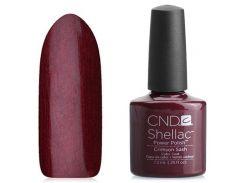 Shellac CND Crimson Sash (глубокий малиновый с мерцанием)