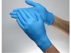 Перчатки нитриловые нестерильные SafeTouch Advanced Slim Blue M 1 пара