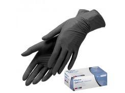 Перчатки нитриловые нестерильные без пудры Medicom SafeTouch Black (размер L) 50 пар