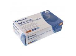 Перчатки нитриловые нестерильные без пудры Medicom SafeTouch Advanced Slim Blue 3.6 гр (размер M) 50 пар