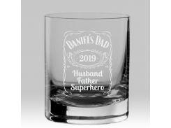 Стакан для виски с именной гравировкой Superhero