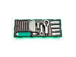 Набор инструмента комбинированный 22 ед. (в ложементе), GTA22340 TOPTUL