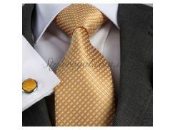 Золотой галстук в подарочном наборе