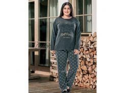 Пижама или домашний костюм в размерах плюс сайз