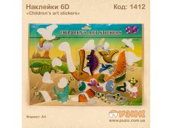 Наклейки 6D «Children's art stickers»