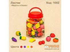 """Ластик  дизайнерский  в банке """"Овощи, фрукты"""""""