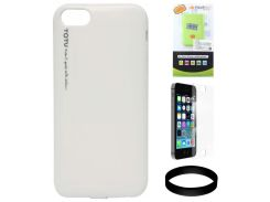 Защитный чехол Totu Ice-Cream Hardshell TPU for Apple iPhone 5 / 5S (White)