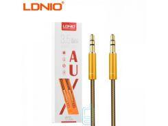 AUX кабель LDNIO LS-Y01 3.5mm 1м золотистый