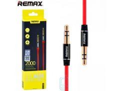 AUX кабель 3.5mm Remax RL-L200 2 метра красный