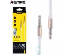 AUX кабель 3.5mm Remax RL-L100 1 метр белый