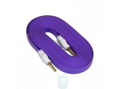 AUX кабель 3.5 M/M плоский 2 метра фиолетовый