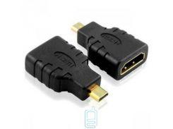 Переходник HDMI F/гнездо-HDMI micro M/штекер черный