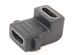 Переходник PowerPlant HDMI AF - HDMI AF, панельный угловой