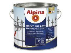 Alpina Direkt auf Rost Hammerschlageffekt молотковая краска Коричневая 0,75 л