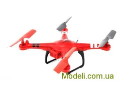 Радиоуправляемый квадрокоптер WL Toys Q222K Spaceship с барометром и камерой Wi-Fi (красный)